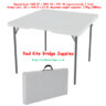Folding Bridge Table